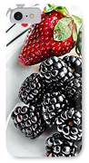 Fruit I - Strawberries - Blackberries IPhone Case