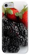 Fruit IIi - Strawberries - Blackberries IPhone Case