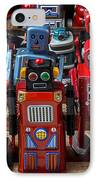 Fun Toy Robots IPhone Case by Garry Gay