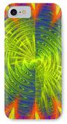 Futuristic Disc Blue Red And Yellow Fractal Flame IPhone Case by Keith Webber Jr