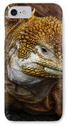 Galapagos Land Iguana  IPhone Case by Allen Sheffield