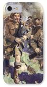 Gallant Piper Leading The Charge IPhone Case by Cyrus Cuneo