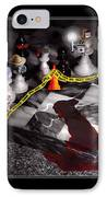 Game - Chess - It's Only A Game IPhone Case by Mike Savad
