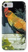 Gamecock And Hen IPhone Case by Carol Walklin