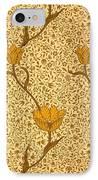 Garden Tulip Wallpaper Design IPhone Case by William Morris