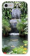 Garden Waterfall IPhone Case by Carol Groenen