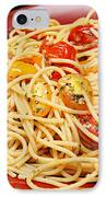 Garlic Pasta And Grape Tomatoes IPhone Case by Andee Design