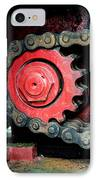 Gear Wheel And Chain Of Old Locomotive IPhone Case