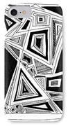 Geometric Doodle 2 IPhone Case by Sarah Loft