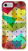 Geometric In Colors  IPhone Case by Mark Ashkenazi