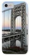 George Washington Bridge Sunset IPhone Case by Susan Candelario