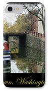 Georgetown Canal Poster IPhone Case