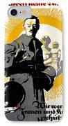 German Political Poster Shows A Soldier Standing In Front Of A Woman And Her Children IPhone Case by Anonymous