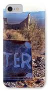Ghost Town - No Water IPhone Case by Maria Arango Diener