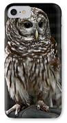 Give A Hoot IPhone Case by John Haldane