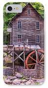 Glade Creek Grist Mill IPhone Case by Steve Harrington