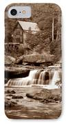 Glade Creek Mill In Sepia IPhone Case