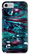 Glass Macro Abstract Rb3 IPhone Case by David Patterson