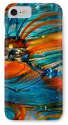 Glass Macro Abstract Rto IPhone Case by David Patterson