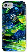 Glass Macro - Seahawks Blue And Green -13e4 IPhone Case