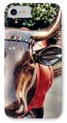 Glitter Bull IPhone Case by Emily Kay