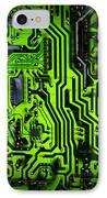 Glowing Green Circuit Board IPhone Case