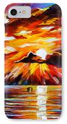 Glowing Sun IPhone Case by Leonid Afremov