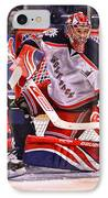 Goaltending IPhone Case by Karol Livote