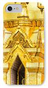 Golden Chedi - Temple Of The Emerald Buddha IPhone Case by Colin Utz