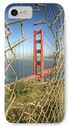 Golden Gate Through The Fence IPhone 7 Case by Scott Norris