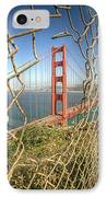 Golden Gate Through The Fence IPhone Case