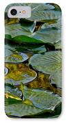 Golden Lilly Pads IPhone Case