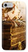 Golden Pages Falling Flowers IPhone Case
