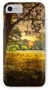 Golden Pastures IPhone Case by Debra and Dave Vanderlaan