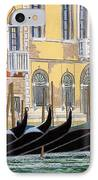 Gondolas On The Grand Canal  IPhone Case