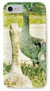Goose Chat IPhone Case by Artist and Photographer Laura Wrede