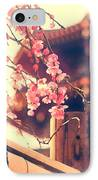 Gorgeous Pagoda And Plum Blossoms With Bamboo Fence IPhone Case by Beverly Claire Kaiya