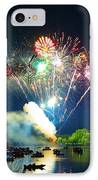 Grand Finale Over The Lake IPhone Case
