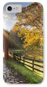 Granny Squirrel Bridge IPhone Case by Debra and Dave Vanderlaan