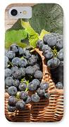 Grapes And Leaves In Basket IPhone Case by Len Romanick