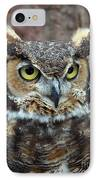 Great And Horned IPhone Case by Skip Willits
