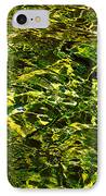 Green Gold Water Abstract. Feng Shui IPhone Case by Jenny Rainbow