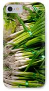 Green Onions IPhone Case by Amy Cicconi