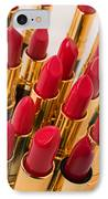 Group Of Red Lipsticks IPhone Case