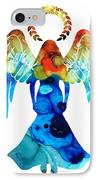 Guardian Angel - Spiritual Art Painting IPhone Case by Sharon Cummings