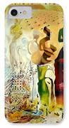 Halucinogenic Toreador By Salvador Dali IPhone Case by Henryk Gorecki