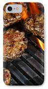 Hamburgers On Barbeque IPhone Case