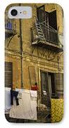 Hanging Out To Dry In Palermo  IPhone Case