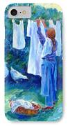 Hanging The Whites  IPhone Case by Trudi Doyle