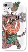 Hanuman IPhone Case by Kruti Shah